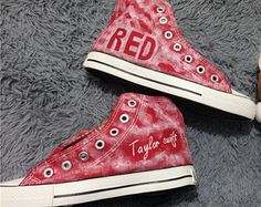 painted shoes converse taylor swift same paragraph  Personalized custom red