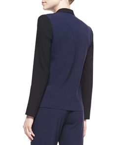 Evie Colorblock Stretch-Wool Jacket