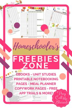 Homeschool Freebies Zone - Download hundreds of free printables, try educational apps and much more free!