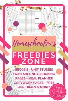 Homeschool Freebies Zone: Hundreds of FREE Homeschool Resources Free Homeschool Curriculum, Homeschooling Resources, Kindergarten Curriculum, Curriculum Planning, Science Curriculum, Lesson Planning, Learning Resources, Free Preschool, Preschool Learning