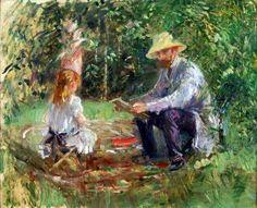 "Marie Bracquemond, number three of ""les trois grandes dames"" of Impressionism in Paris, oil"