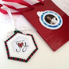 Perler Bead Ornament Gift Tags Tutorial - A Great Personalized gift