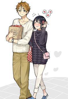 Tamako Market fanart by momose Couple Manga, Anime Love Couple, Cute Anime Couples, Couple Pics, Kawaii Cute, Kawaii Anime, Fanart, Anime Girlfriend, Tamako Market