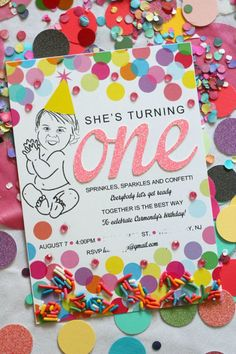 Sprinkles, Sparkles and Confetti: Carmendy's First Birthday Party - Ice Cream Off Paper Plates First Birthday Party Themes, Birthday Candy, First Birthday Photos, 1st Birthday Girls, Birthday Ideas, Birthday Board, Birthday Gifts, Sprinkle Party, Birthday Invitations