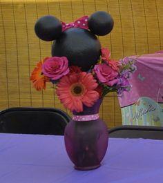 Minnie Mouse Flower Center pieces