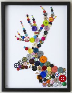 Button-filled silhouette Image of STAG | Kid Spaces | Pinterest