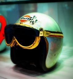 Bruce McLaren's original helmet