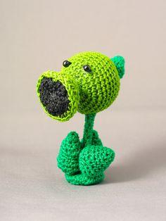 Plants versus Zombies Pea Shooter crochet