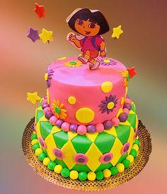 Simple Homemade Dora Birthday Cake Dora cake Dora birthday cake