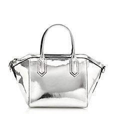 mini metallic satchel // J.Crew