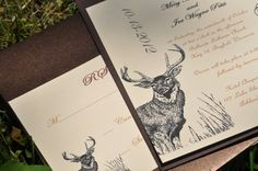 Hunting Wedding Invitations Deer Invitations Camo Wedding. $3.50, via Etsy.