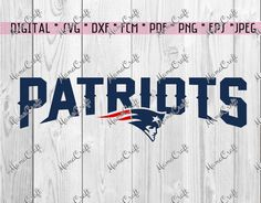 SVG PATRIOTS New ENGLAND layered logo digital by MamaCraft4You
