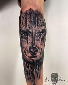 #forest #forestwolf #lobo #tatuaje #foresttattoo #lottustattoo #denia