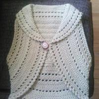 Crochet Circle Vest or Shrug by LazyTcrochet | Crocheting Ideas