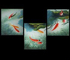 Koi Fish Wall Art Canvas Prints Contemporary Modern Wall Art Décor