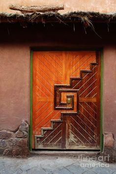Wide Geometric Door