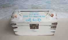 Sandy Beach Card Box Personalized in your choice of color