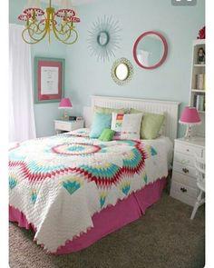 Bu gecede bu yatak odası olsun! Patcwork yatak örtüsüne bayıldım! photo by pinterest