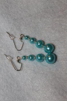 White Dangle Earrings & Teal  Dangle Earrings by AshleyDavisDesigns on Etsy