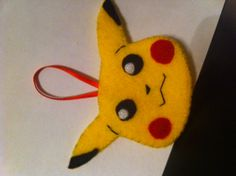 A Pikachu ornament from felt for my son who LOVES Pokemon!