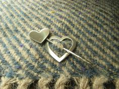 Silver Hearts Shawl Pin / Brooch. Handmade in Solid Sterling Silver. Great Christmas Gift for Her / Someone Special. Hallmarked. by CallumKiltsJewellery on Etsy https://www.etsy.com/listing/266994138/silver-hearts-shawl-pin-brooch-handmade