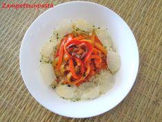 Insalata di riso con peperoni http://zampetteinpasta.blogspot.it/2012/08/insalata-di-riso-con-peperoni.html