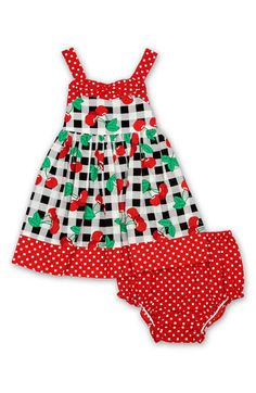 cherry infant dress