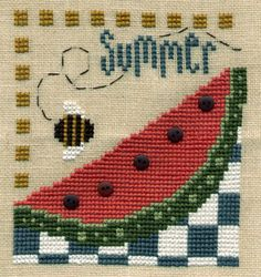 Summer cross stitch by Bent Creek.