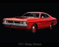"""1971 Dodge Demon"" by fellow artist/photographer Chris Flees."