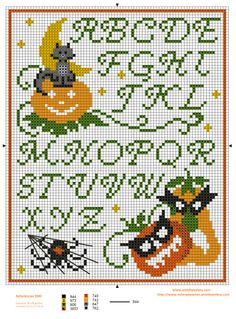 Halloween sampler -xstitch, found on : http://www.aminhaesfera.com/category/graficos-ponto-cruz/graficos-ponto-cruz-graficos-ponto-cruz/page/7