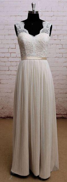 Noble Champagne Wedding Dress, Brid