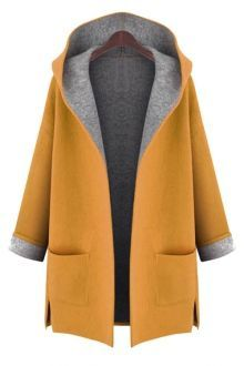 Cheap hooded cardigan, Buy Quality women winter directly from China cardigan hood Suppliers: New 2017 Large Size womens winter jackets and woolen coats hooded cardigan Windbreaker manteau femme show thin abrigos mujer Oversize Pullover, Plain Hoodies, Coats For Women, Clothes For Women, Ladies Coats, Stylish Plus, Stylish Coat, Hooded Cardigan, Hooded Coats