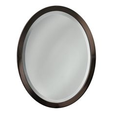 allen + roth 29-in H x 23-in W Oil-Rubbed Bronze Oval Bathroom Mirror lowes $89