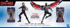 ToyzMag.com » Marvel Legends : figurines Falcon, Bucky & Punisher annoncées