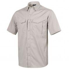 Helikon-Tex Defender Short Sleeve Shirt Polycotton Ripstop - S Khaki Chef Jackets, Men Casual, Urban, Mens Tops, Shirts, Clothes, Shopping, Sleeve, Fashion