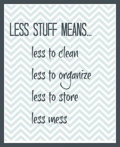 Simplify. declutter.