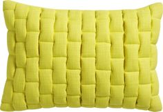 """mason quilted yellow 18""""x12"""" pillow"""