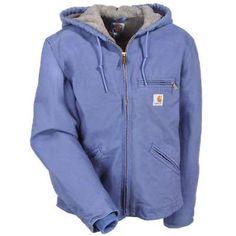 816ceb31fd92d Carhartt Jackets  Women s WJ141 BDK Duck Fleece Lined Hooded Jacket