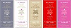 Hochzeitskarten - Einladung Hochzeit Hochzeitkarte Save the Date - ein Designerstück von 1000schoen bei DaWanda
