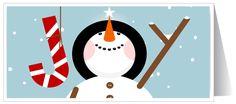 Snowman Cartoon Holiday Card [6120] : Harrison Greetings, Business ...