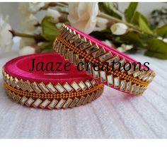 Silk Thread Bangles Design, Silk Bangles, Silk Thread Earrings, Thread Jewellery, Diy Jewelry, Handmade Jewelry, Jewelry Making, Diy Necklace Bracelet, Beaded Bracelets