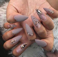 Nail Art Designs In Every Color And Style – Your Beautiful Nails Stiletto Nail Art, Cute Acrylic Nails, Matte Nails, Coffin Nails, Fun Nails, Nail Nail, Nail Polish, Bio Gel Nails, Nail Glue