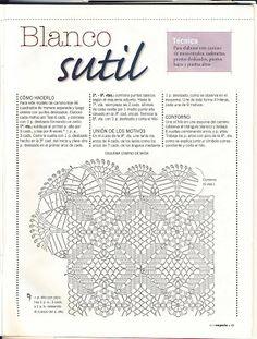 Edivana Croche: white table Way