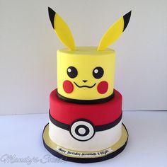 "342 Me gusta, 18 comentarios - MANDYS SWEETS (@mandyssweets) en Instagram: ""#pokemon inspired #cake ❤️ #mandyssweets #pokemoncake #pikachu #pikachucake #pokeball #pokeballcake…"""