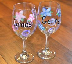 Painted Wine Glass DIY for Welcome Basket