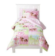 NIP Girl's Pretty Horses Comforter Bedding Set 7-pc. Bed Set - Full #Circo