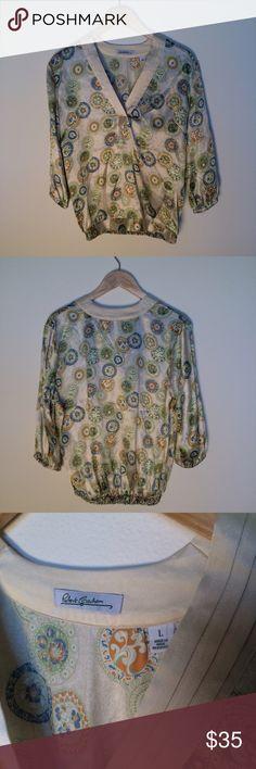 Women's Robert Graham Silk Blouse Top Paisley Lrg 100% Silk Blouse by Robert Graham for Women. Super cute! Robert Graham Tops Blouses