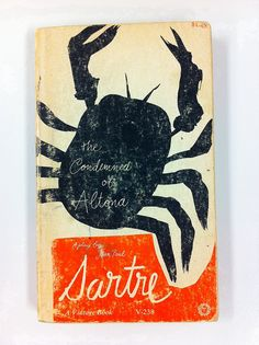 """Paul Rand's cover of Sartre's """"The Condemned of Altona"""" play. 1963 by Herb Lubalin Study Center, via Flickr"""