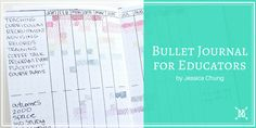 Bullet Journal for Education Work