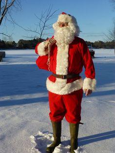 Vintage Santa Claus Suit  Santa's Clothes  by LucysLuckyDeals
